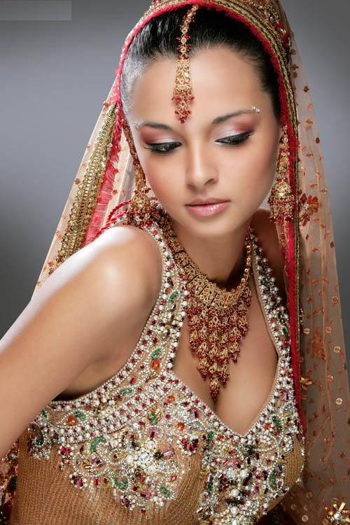 overall attire of an Indian bride In fact the bridal look is believed