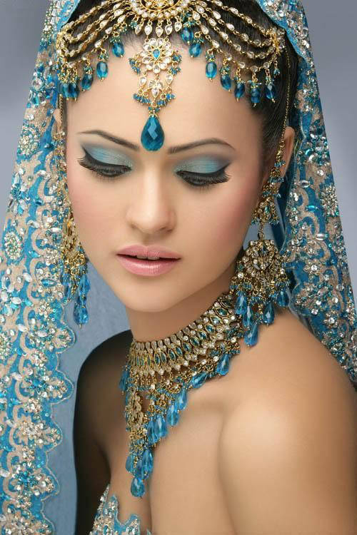 indian bridal with makeup and heavy jewelry kotaddu city